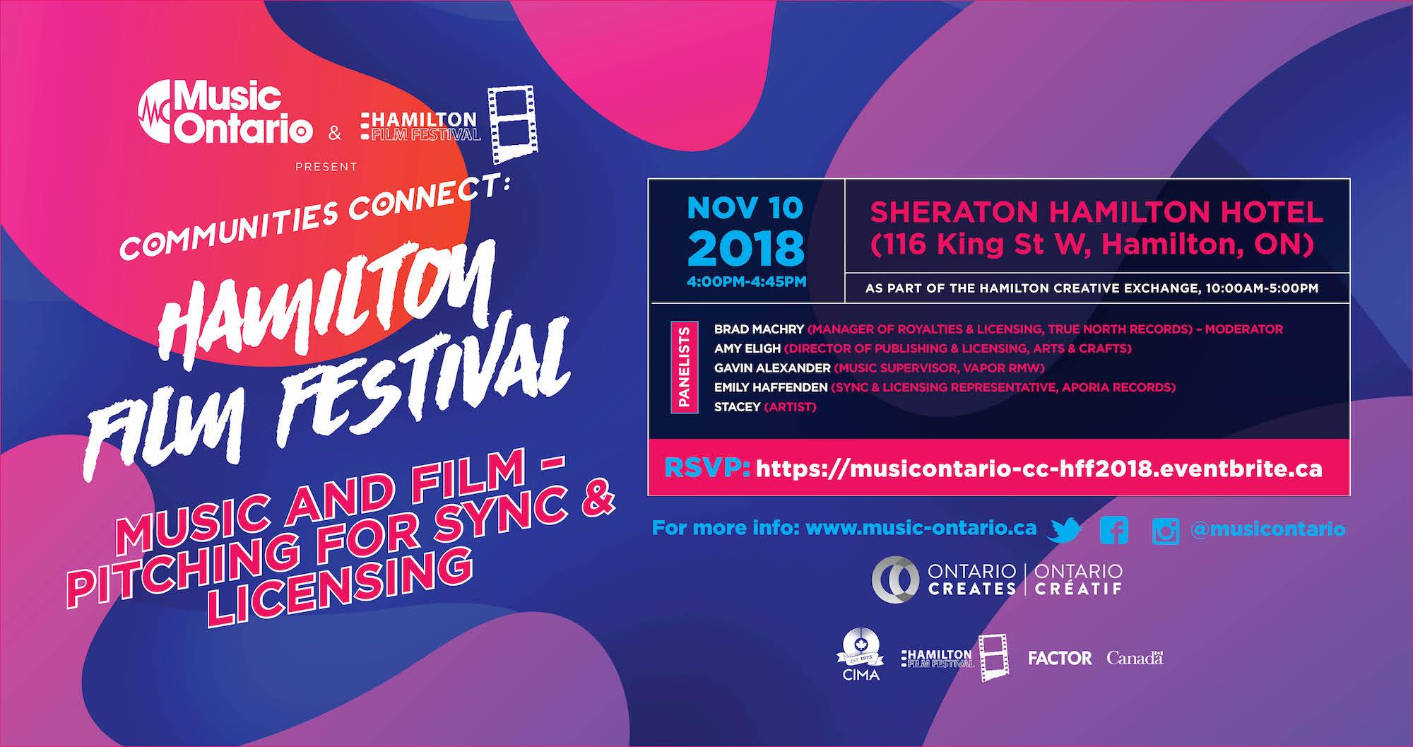 MusicOntario Communities Connect @ Hamilton Film Festival: Music and
