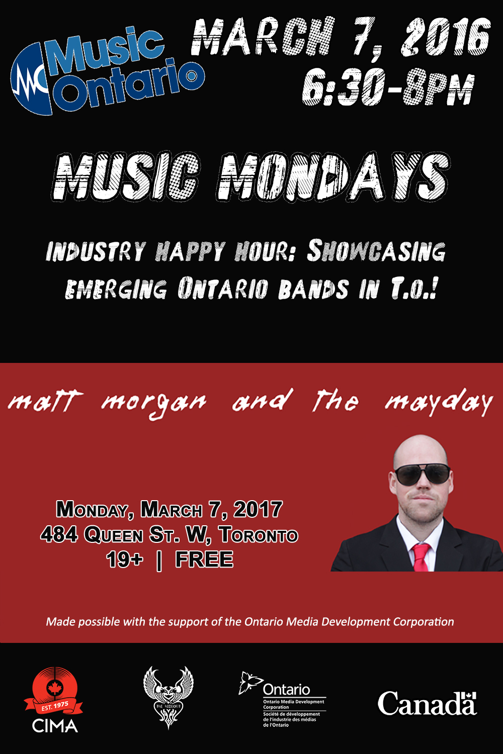Music Mondays March 7, 2016 Poster no rsvp